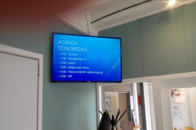Bouwerskamp informatiescherm/lichtkrant